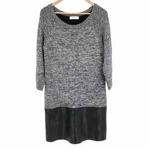 Bailey 44 Gray and Black Sweater Dress Size Large